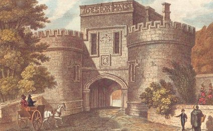 Entrance to Skipton Castle in