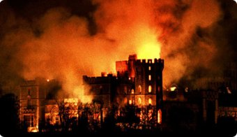 Part of The Queen's 'Annus Horribilis': was the night Windsor Castle went up in smoke.