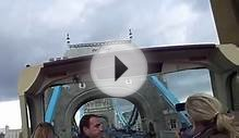 big bus tours going over london tower bridge