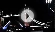 LONDON BRIDGE OPENING Rare video of London bridge / Tower